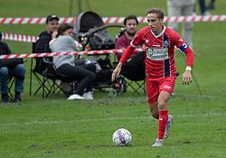 Lucas Haren (FC Helsingør) under kampen i Sydbank Pokalen, 1. runde, mellem Bispebjerg Boldklub og FC Helsingør den 2. september 2020 i Lersø Parken (Foto: Claus Birch).
