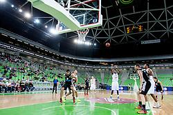 Deividas Gailius #13 of KK Union Olimpija during basketball match between KK Union Olimpija and  Cimberio Varese (ITA) of 1st Round of Regular season of EuroCup 2013/2014 on October 16, 2013, in SRC Stozice, Ljubljana, Slovenia. (Photo by Urban Urbanc / Sportida)