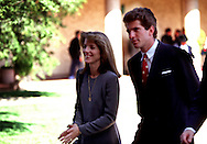 A 25.1 MG FILE FROM FILM OF: Caroline and John Kennedy at the opening of the Ronald Reagan Library. Photo by Dennis Brack