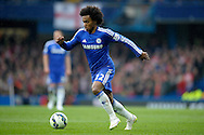 Willian of Chelsea in action. Barclays Premier league match, Chelsea v Southampton at Stamford Bridge in London on Sunday 15th March 2015.<br /> pic by John Patrick Fletcher, Andrew Orchard sports photography.