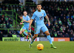 Coventry City's Jonson Clarke-Harris focusses on a loose ball