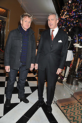 Left to right, GORDON RAMSAY and JEREMY KING at the unveiling of the Claridge's Christmas tree 2011 designed by Alber Elbaz for Lanvin held at Claridge's, Brook Street, London on 5th December 2011.
