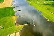 Nederland, Gelderland, Gemeente Buren, 26-06-2013; Neder-rijn ter hoogte van De Tollenwaard (links) en De Buitenwaarden (rechts). Strekdammen of kribben.<br /> Lower-rhine.<br /> luchtfoto (toeslag op standaard tarieven);<br /> aerial photo (additional fee required);<br /> copyright foto/photo Siebe Swart.