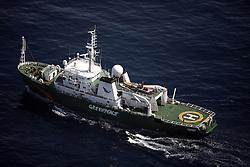 ATLANTIC OCEAN 24OCT14 - The Greenpeace ship Esperanza on patrol in the Atlantic Ocean.<br /> <br /> <br /> <br /> jre/Photo by Jiri Rezac / Greenpeace<br /> <br /> <br /> <br /> <br /> © Jiri Rezac 2014