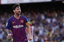 September 29, 2018 - Barcelona, Catalonia, Spain - September 29, 2018 - Camp Nou, Barcelona, Spain - LaLiga Santander- FC Barcelona v Athletic de Bilbao; Lionel Messi of FC Barcelona celebrates the 1-1. (Credit Image: © Marc Dominguez/ZUMA Wire)