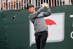June 23, 2018 - Cromwell, CT, U.S. - CROMWELL, CT - JUNE 23: Paul Casey of England  watches his drive on 1 during the Third Round of the Travelers Championship on June 23, 2018, at TPC River Highlands in Cromwell, Connecticut. (Photo by Fred Kfoury III/Icon Sportswire) (Credit Image: © Fred Kfoury Iii/Icon SMI via ZUMA Press)