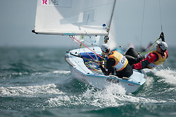 03.08.2012, Bucht von Weymouth, GBR, Olympia 2012, Segeln, im Bild Bithell Stuart, Patience Luke, (GBR, 470 Men) // during Sailing, at the 2012 Summer Olympics at Bay of Weymouth, United Kingdom on 2012/08/03. EXPA Pictures © 2012, PhotoCredit: EXPA/ Juerg Kaufmann ***** ATTENTION for AUT, CRO, GER, FIN, NOR, NED, POL, SLO and SWE ONLY!