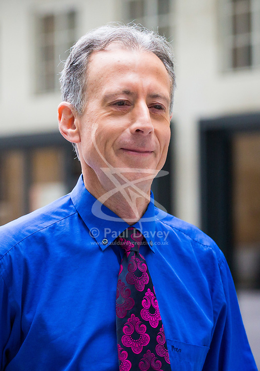 London, July 23rd 2017. Human rights and LGBT+ campaigner Peter Tatchell arrives at the BBC in London