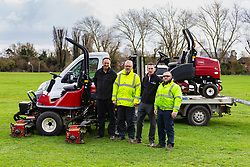 One Agency - Toro Mowers used on Hitchen fields by John O'Conner Grounds Maintenance. Hitchen, March 18 2019.