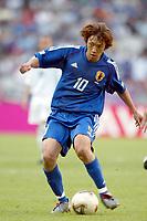 FOOBALL - CONFEDERATIONS CUP 2003 - GROUP A - 030618 - NEW ZEALAND v JAPAN - SHUNSUKE NAKAMURA (JAP) - PHOTO STEPHANE MANTEY / DIGITALSPORT