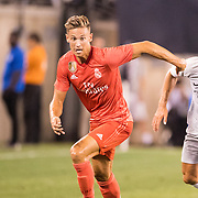 MEADOWLANDS, NEW JERSEY- August 7:   Marcos Llorente #18 of Real Madrid in action during the Real Madrid vs AS Roma International Champions Cup match at MetLife Stadium on August 7, 2018 in Meadowlands, New Jersey. (Photo by Tim Clayton/Corbis via Getty Images)