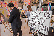 The Affordable Art Fair opens in Battersea and runs until 12 March. The fair offers visitors a chance to purchase work from over 110 galleries at prices between £100 and £5,000
