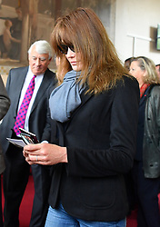 Former president Nicolas Sarkozy and his wife Carla Bruni Sarkozy cast their vote in Paris, France on April 23, 2017. Photo by Christian Liewig/ABACAPRESS.COM
