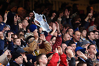 Photo: Daniel Hambury.<br />Arsenal v Cardiff City. The FA Cup. 07/01/2006.<br />Cardiff's fans with a cut out FA Cup.