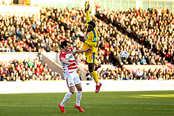 John Marquis of Doncaster Rovers challenges Jeffrey Schlupp of Crystal Palace - Mandatory by-line: Robbie Stephenson/JMP - 17/02/2019 - FOOTBALL - The Keepmoat Stadium - Doncaster, England - Doncaster Rovers v Crystal Palace - Emirates FA Cup fifth round proper