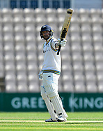 50 for Adam Lyth of Yorkshire - Adam Lyth of Yorkshire celebrates scoring a half century during the Specsavers County Champ Div 1 match between Hampshire County Cricket Club and Yorkshire County Cricket Club at the Ageas Bowl, Southampton, United Kingdom on 11 April 2019.