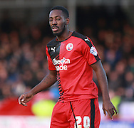 Crawley Town striker Roarie Deacon during the Sky Bet League 2 match between Crawley Town and Bristol Rovers at the Checkatrade.com Stadium, Crawley, England on 21 November 2015. Photo by Bennett Dean.
