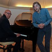 NLD/Blaricum/20120403 - Opname EK CD Ferdi Bolland, met Johan Derksen en Kees Jansma