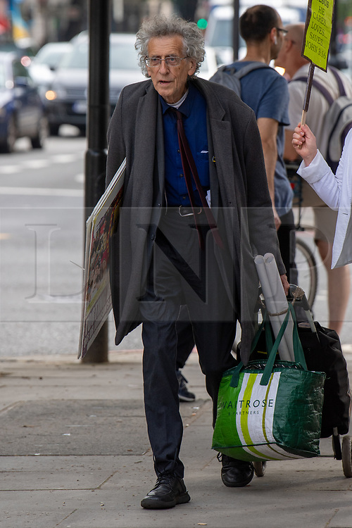 © Licensed to London News Pictures. 01/07/2021. London, UK. Anti-vaxxer Piers Corbyn arrives at Westminster Magistrates Court to face various charges including breaches of Coronavirus Regulations. Photo credit: Peter Manning/LNP