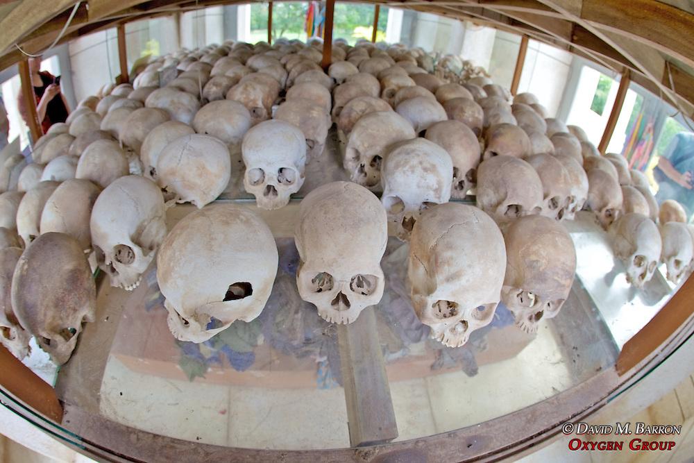 Skulls, Choeung Ek Buddist Memorial Stupa