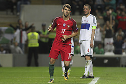 August 31, 2017 - Porto, Porto, Portugal - Portugal's forward Nelson Oliveira celebrates after scoring goal during the FIFA World Cup Russia 2018 qualifier match between Portugal and Faroe Islands at Bessa Sec XXI Stadium on August 31, 2017 in Porto, Portugal. (Credit Image: © Dpi/NurPhoto via ZUMA Press)
