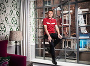 Portraits of wildlife expert Chris Packham at the Soho Hotel in London  on Friday 20th June 2014<br /> Photos by Ki Price