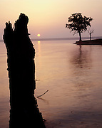 Arcadia Lake; Edmond; sunrise; water