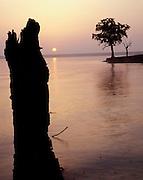 Arcadia Lake; Edmond; sunrise; water