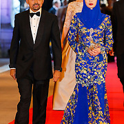 NLD/Amsterdam/20130429- Afscheidsdiner Konining Beatrix Rijksmuseum, Crownprince Billah and his wife princess Sarah of Brunei