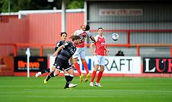 Liam Sercombe of Cheltenham Town heads the highball- Mandatory by-line: Nizaam Jones/JMP - 10/10/2020 - FOOTBALL - Jonny-Rocks Stadium - Cheltenham, England - Cheltenham Town v Crawley Town - Sky Bet League Two