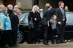 "Family including Cheryl Routlidge mother and Brother Jonathan Riley arrive at the funeral of  Corporal Liam Riley whose Funeral service took place at Sheffield Cathedral on Wednesday 24 February.   ..Corporal Riley of 3rd Battalion Yorkshire Regiment who died in an explosion in Afghanistan on 1 February 2010 while on foot patrol south of the Kings Hill check point Helmand. ..Upon hearing of Liam's death he was described by Price Harry as ""a legend"""