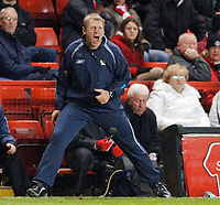 Photo: Daniel Hambury.<br />Charlton Athletic v Manchester City. Barclays Premiership.<br />04/12/2005.<br />City's manager Stuart Pearce shout the orders from the touchline.