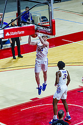 NORMAL, IL - February 27: James Betz grabs a rebound during a college basketball game between the ISU Redbirds and the Northern Iowa Panthers on February 27 2021 at Redbird Arena in Normal, IL. (Photo by Alan Look)