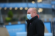 Burnley manager Sean Dyche arrives at the stadium during the Premier League match between Manchester City and Burnley at the Etihad Stadium, Manchester, England on 28 November 2020.