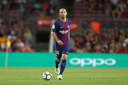 August 7, 2017 - Barcelona, Spain - Javier Mascherano of FC Barcelona during the 2017 Joan Gamper Trophy football match between FC Barcelona and Chapecoense on August 7, 2017 at Camp Nou stadium in Barcelona, Spain. (Credit Image: © Manuel Blondeau via ZUMA Wire)