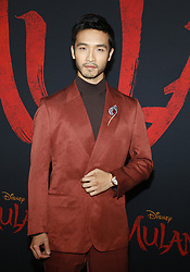 Yoson An at the World premiere of Disney's 'Mulan' held at the Dolby Theatre in Hollywood, USA on March 9, 2020.