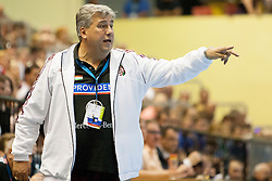 Head coach of Hungary during handball match between National teams of Slovenia and Hungary in play off of 2015 Men's World Championship Qualifications on June 15, 2014 in Rdeca dvorana, Velenje, Slovenia. Photo by Urban Urbanc / Sportida