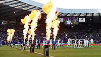 01/02/15 SCOTTISH LEAGUE CUP SEMI-FINAL<br /> CELTIC v RANGERS<br /> HAMPDEN - GLASGOW<br /> Both teams emerge from the tunnel ahead of kick-off