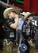 NEW YORK, NEW YORK- JANUARY 4: Backstage as Professional Bull Riders and New Yorkers & Tourists attend the 2019 Monster Energy Buck Off at The Garden, presented by Ariat held at Madison Square Garden on January 4, 2019 in New York City.  (Photo by Terrence Jennings/terrencejennings.com)