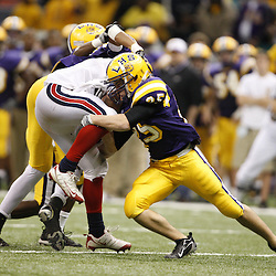 2008 December 12: During the Class 3A LHSAA State Championship game, 17-0 win by the Lutcher Bulldogs over the Notre Dame Pioneers at the Louisiana Superdome in New Orleans, LA (photo by Derick Hingle/Nola.com)