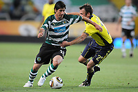 20100819: LISBON, PORTUGAL - Sporting Lisbon vs Brondby: UEFA Europa League 2010/2011 Play-Offs - First Leg. In picture: Jaime Valdes (Sporting) and Thomas Rasmussen (Brondby). PHOTO: Alexandre Pona/CITYFILES