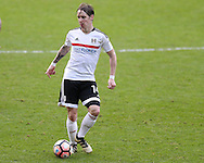 Stefan Johansen of Fulham in action. The Emirates FA Cup, 3rd round match, Cardiff city v Fulham at the Cardiff city stadium in Cardiff, South Wales on Sunday 8th January 2017.<br /> pic by Andrew Orchard, Andrew Orchard sports photography.