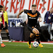 David Horst, Houston, in action during the New York Red Bulls Vs Houston Dynamo, Major League Soccer regular season match at Red Bull Arena, Harrison, New Jersey. USA. 19th March 2016. Photo Tim Clayton