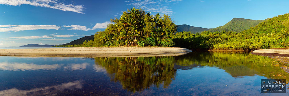 Early one beautiful morning at the mouth of Myall Creek, near Cape Tribulation.<br /> <br /> Limited Edition of 125
