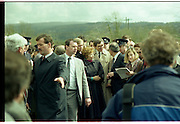 Raisa Gorbachev at Bunratty Folk Park.  (R99)..1989..02.04.1989..04.02.1989..2nd April 1989..While her husband, Russian President Mikhail Gorbachev,was working on state matters ,Mrs Gorbachev was taken on a tour of Bunratty Folk Park in Co Clare. The Gorbachevs were in Ireland as part of a tour of European Capitals...Image shows Mrs Gorbachev in the middle of the crowd as she is given the guided tour of Bunratty Folk Park. Security personnel try to clear a path.