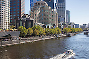 Yarra River and the South Bank Precinct in Melbourne Australia