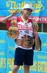 American competitive eater Miki Sudo wins the 102nd Annual Nathan's Famous Fourth of July International Hot Dog-Easting contest with a 37 hotdogs consumed in ten minutes, at Coney Island in the New York City borough of Brooklyn, NY, USA on July 4, 2018. Photo by Dennis Van Tine/ABACAPRESS.COM