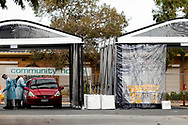 A view of the near empty Fawkner Mobile Testing Site. Despite the government claiming record testing taking place, the mobile testing site in Fawkner, one of Melbourne's worst hotspot, is near empty during COVID-19. After seeing another 177 cases overnight and further outbreaks in nursing homes, Metropolitan Melbourne and the Mitchell Shire are in lockdown following the rise of active cases to 1,612. The new restrictions came into effect on Thursday 9 July with residents in lockdown areas under stay at home orders for the next six weeks. (Photo be Dave Hewison/ Speed Media)