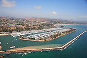 Aerial Stock Photo of Dana Point Harbor