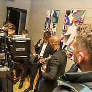 NLD/Amsterdam/20171106 - MTV Pre party 2017, Lil Kleine geeft telefonisch interview aan Radio538